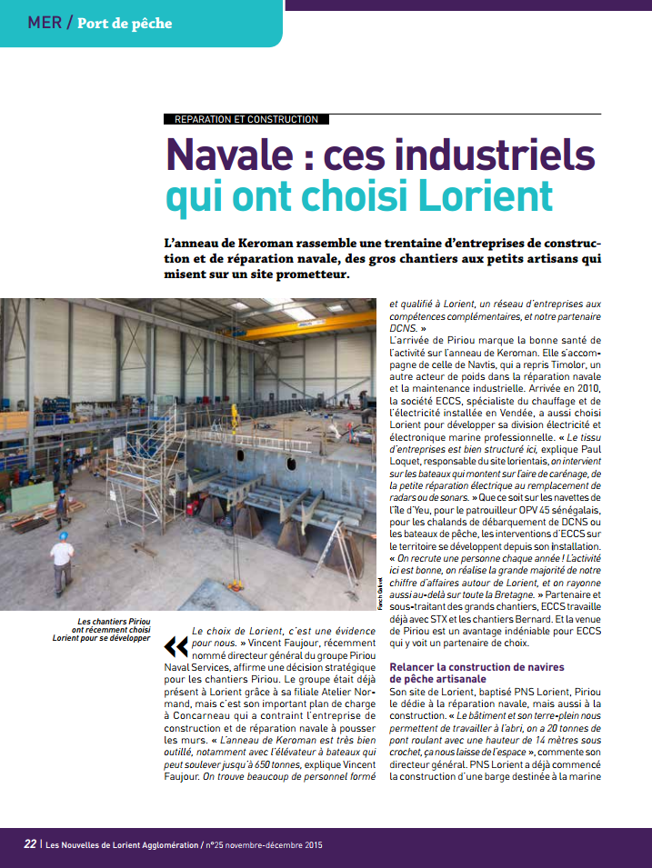 Article ECCS Lorient Marine